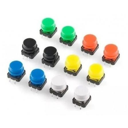 Push Button com capas coloridas X50