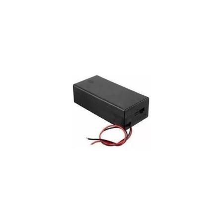 Suporte P/ 2x Baterias 18650 Com Chave On/Off